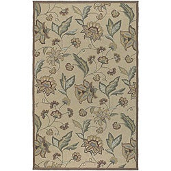 Hand-hooked Tropic Collection Indoor/Outdoor Floral Rug (8' x 10')
