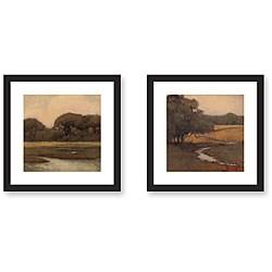 Kim Coulter 'Awestruck' 2-piece Framed Art Print Set