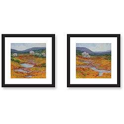 Kim Coulter 'Mountain Stream' Framed Art Print Set