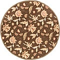 Tropic Series Outdoor/ Indoor Brown Area Rug (8' Round)