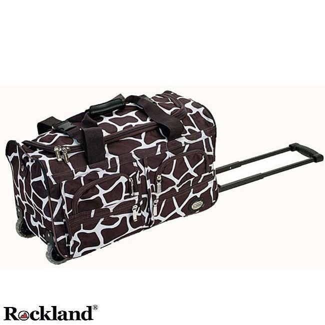 Rockland Deluxe Giraffe 22-inch Carry On Rolling Upright Duffel Bag