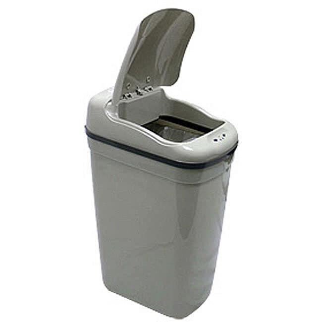 Nine Stars Grey Plastic Motion Sensor 8.7-gallon Trash Can at Sears.com