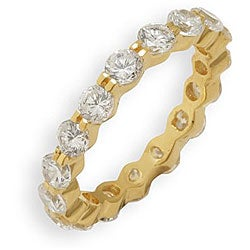 Simon Frank 14k Yellow Gold Overlay CZ Stackable Eternity Band