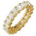 Simon Frank Princess Cut Stackable CZ Eternity Band