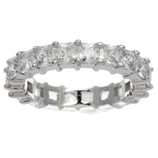 Simon Frank Princess-cut Stackable CZ Eternity Band