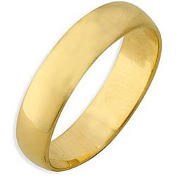 Simon Frank 14k Yellow Gold Overlay Classic Band