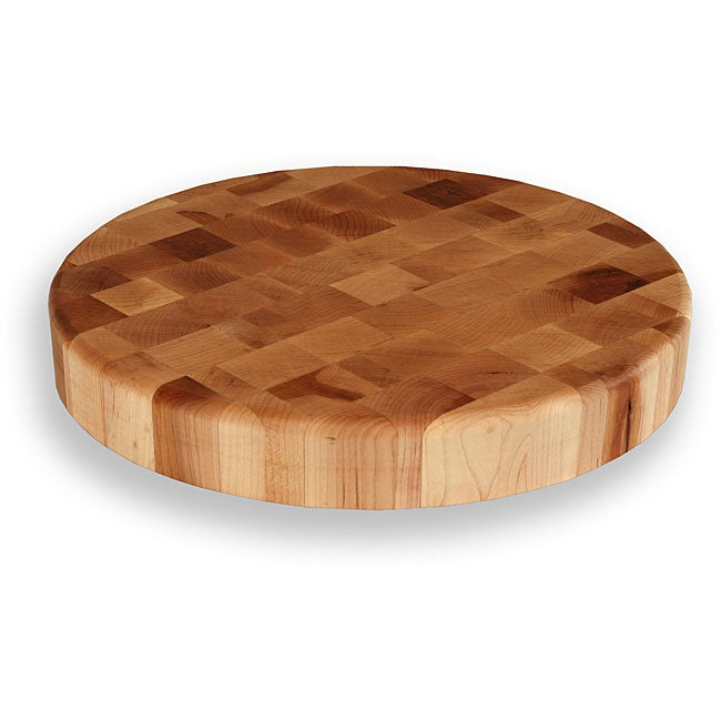 Maple End Grain 15-inch Round Chopping Block