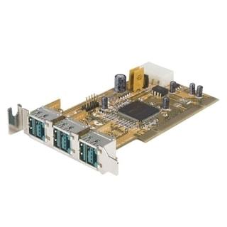 StarTech.com 3 Port Low Profile PCI 12V PoweredUSB Adapter Card - USB