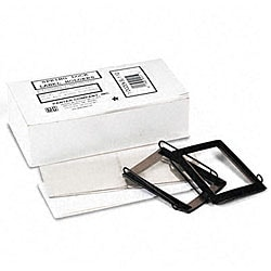 Spring-Lock 1.5-inch Metal Label Holders for Binders (Pack of 12)