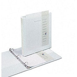 Samsill Antimicrobial 1-inch Round Ring View Binder