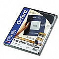 Oxford Laserview Single-Pocket Business Portfolios (10-Pack)