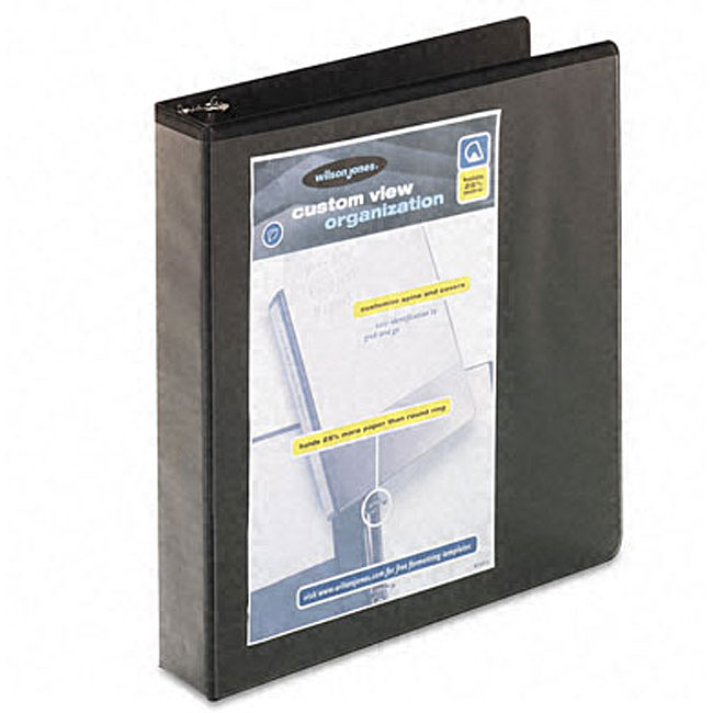 Wilson Jones 1.5-Inch Double-Jointed D-Ring Vinyl View Binder
