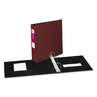 Avery Durable 2-Inch Round Ring Burgundy Reference Binder