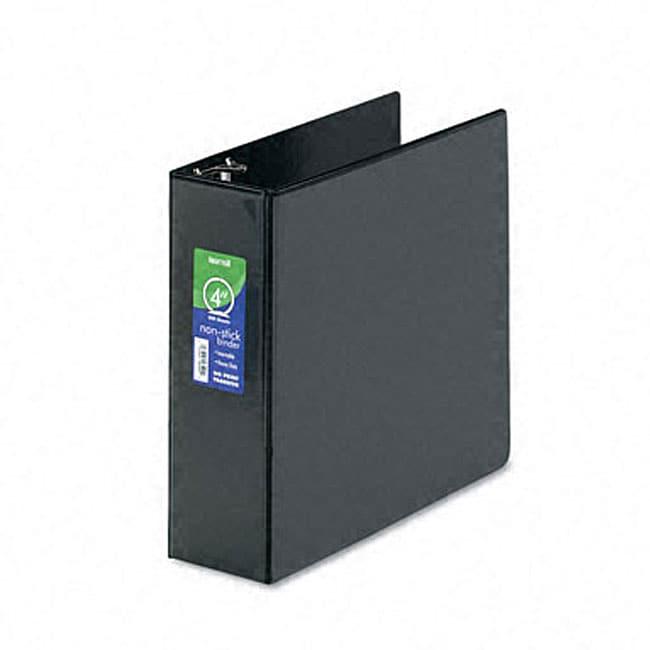 Samsill black nonstick 4 inch round ring view binder 11404391