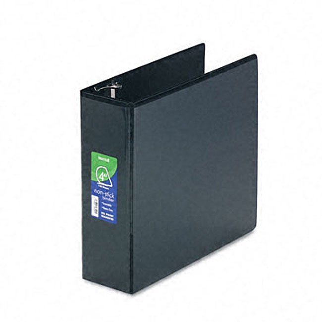 Samsill black nonstick four inch d ring view binder 11404396