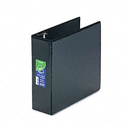 Samsill Black Nonstick Four-Inch D-Ring View Binder