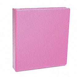 Samsill Antimicrobial 1-Inch Pink Presentation View Binder