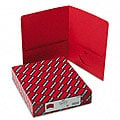 Smead Red Recycled Two-Pocket Portfolios (25 per Box)