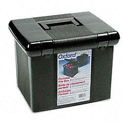 Portafile Black Letter Size Hanging File Box