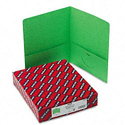 Smead Green Recycled Two-Pocket Portfolios (25 per Box)