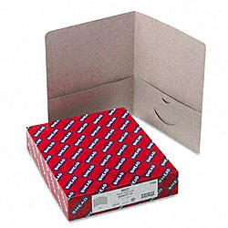 Smead Gray Recycled Two-Pocket Portfolios (25 per Box)