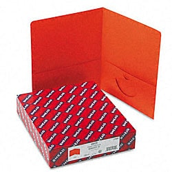 Smead Orange Recycled Two-Pocket Portfolios (25 per Box)