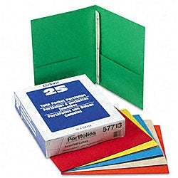 Recycled Twin Pocket Portfolios with Three Tang Fasteners (Box of 25)