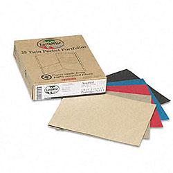 Twin Pocket Portfolios - Recycled (25 per Box)
