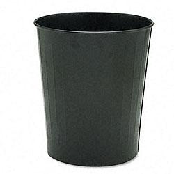 Black 23.5-quart Fire-safe Round Steel Trash Can