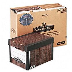 Fellowes R-Kive Woodgrain Storage Boxes (Pack of 12)