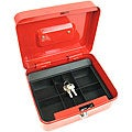 Locking Coin Tray Cash Box - Red