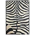 Hand-woven Zebra Bamboo Rug (6' x 9')