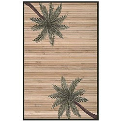 Hand-woven Palm Tree Rayon from Bamboo Rug (6' x 9')