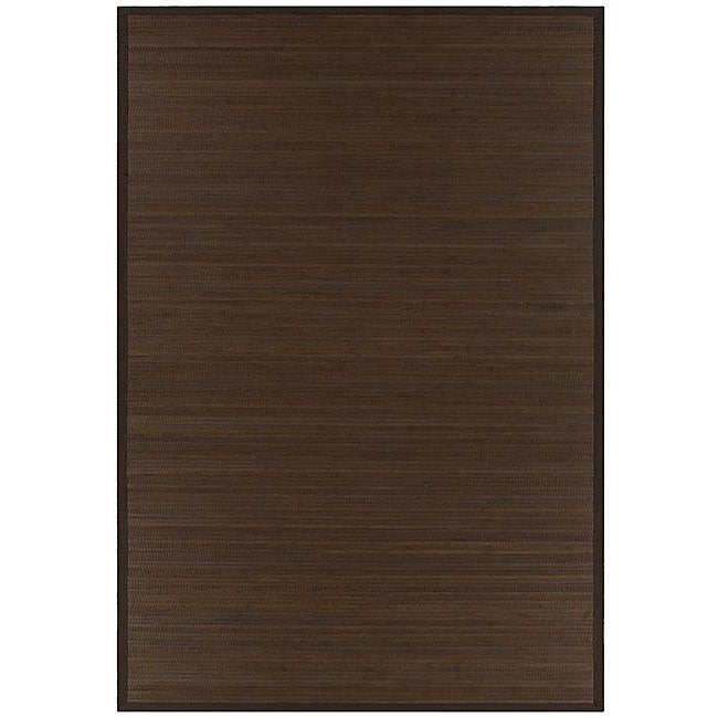 Hand-woven Brown Rayon from Bamboo Rug (6' x 9')