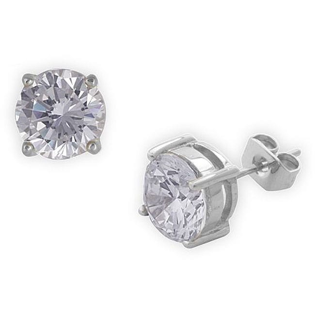 Simon Frank 1.64 Equivalent Diamond Weight 14k Gold Overlay White Diamoness Stud Earrings