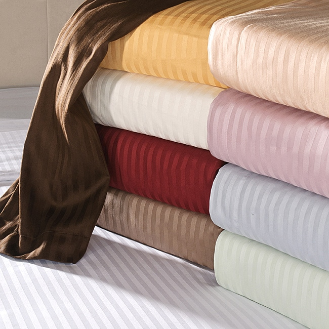 Egyptian Cotton 650 Thread Count Deep Pocket Striped Sheet Set