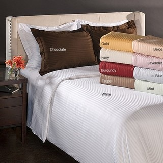 Egyptian Cotton 650 Thread Count Striped 3-piece Duvet Cover Set