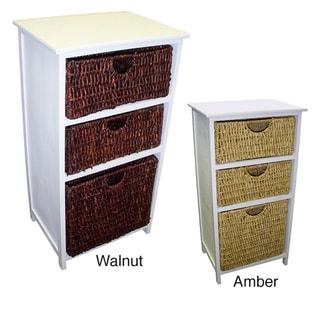 White frame compact wicker basket storage shelf - Bathroom storage cabinet with baskets ...