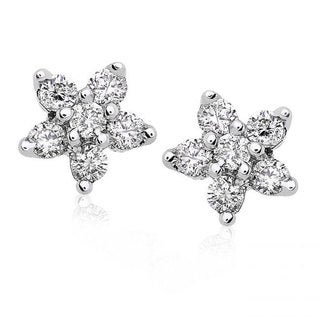 Annello 14k Gold 1/5ct TDW Diamond Star Earrings