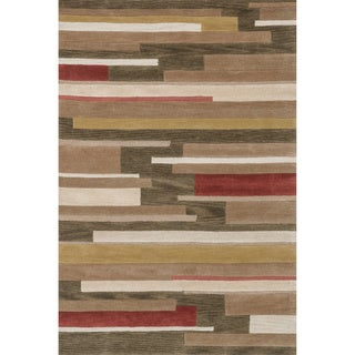Hand-tufted Ackworth Olive/ Gold Area Rug (5'x 7'6)