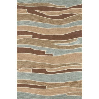Ackworth Tufted Blue/ Brown Runner (2'3 x 7'6)