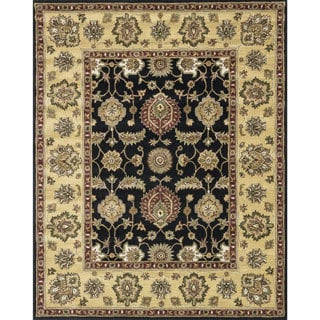 Hand-tufted Mason Black Area Wool Rug (5' x 7'6)