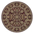 Hand-tufted Mason Red/ Light Blue Wool Rug (8' Round)