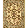 Hand-tufted Mason Beige/ Green Wool Rug (5' x 7'6)