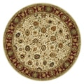 Hand-tufted Mason Ivory/ Red Wool Rug (8&#39; Round)