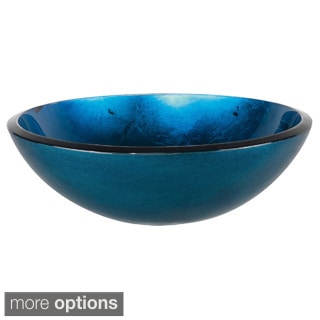 Kraus Irruption Galaxy Blue Glass Vessel Sink