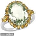 Malaika Sterling Silver Gemstone and Citrine Ring