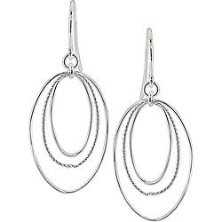 Sterling Silver Open Circle Hook Earrings