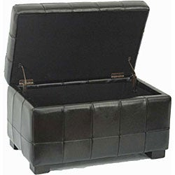 Safavieh Small Black Manhattan Storage Bench