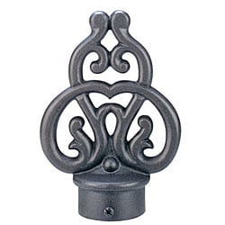 Rustic 8-foot Iron Drape Rod with Scroll Finial